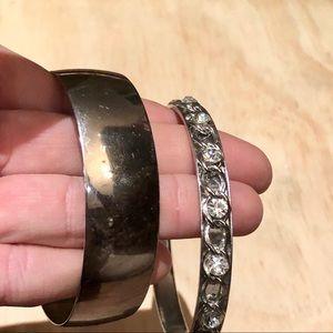 Jewelry - Two silver statement bangle bracelets